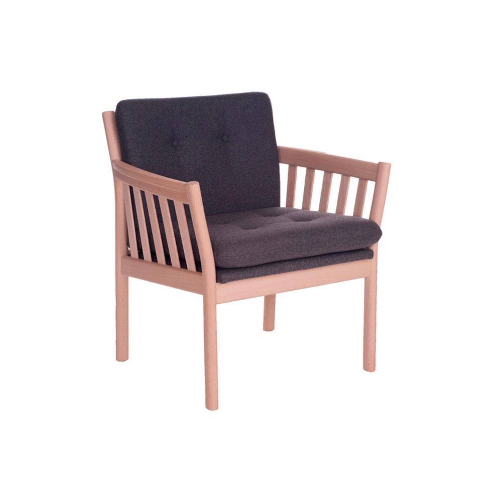 351 lænestol med lav ryg